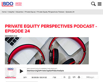 Dan Ryan participates in deal sourcing and capital markets podcast